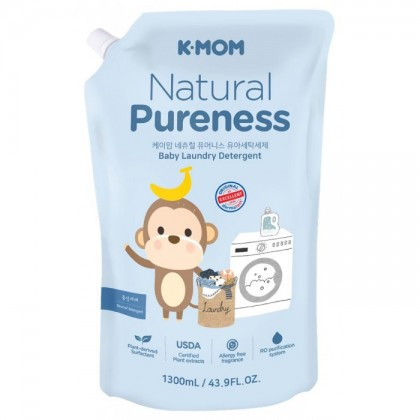K-MOM Natural Pureness Laundry Detergent Refill Pack (1.3L)