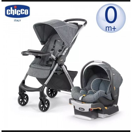 Chicco Mini Bravo PLUS Travel System Stroller + Baby Carrier
