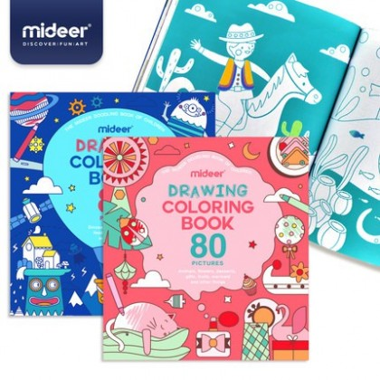 MIDEER Drawing & Colouring Book - Boy / Girl (Educational Toys for Kids)