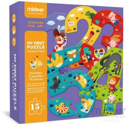 MIDEER My First Puzzle - 12345 (Educational Toys for Kids)
