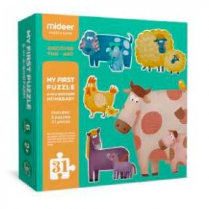 MIDEER My First Puzzle - Mom & Baby (Educational Toys for Kids)