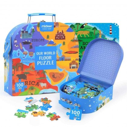 MIDEER Our World Floor Puzzle (Educational Toys for Kids)
