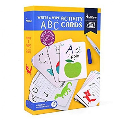 MIDEER Write and Wipe - ABC (Educational Toys for Kids)