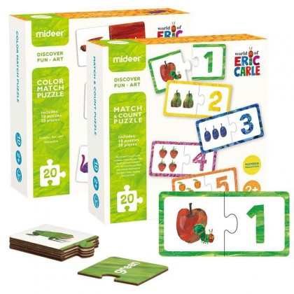 MIDEER X ERIC CARLE Match & Count Puzzle