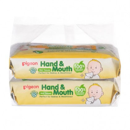PIGEON Wet Tissues  Hand and Mouth 20'S X 2 or 60's x2